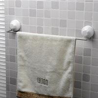 双庆 不锈钢浴室卫生间吸壁式挂件置物架毛巾架浴巾架1021