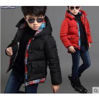 棉服 男童外套 加厚保暖棉衣 童装男童棉衣潮儿童棉袄中大童外套男孩子加厚棉服