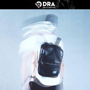 DRACONITE日韩黑色迷彩双肩包女男生时尚潮流休闲旅行背包11028A
