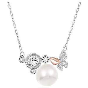 SWAROVSKI/施华洛世奇 Swarovski Cute珍珠蝴蝶项链 5110668 支持礼品卡支付