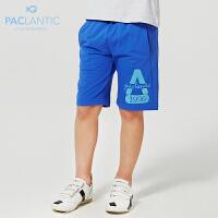 派克兰帝品牌童装 夏装男童运动针织五分裤 男童夏季五分裤