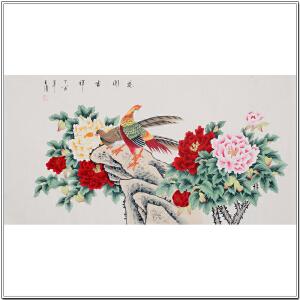 中国书画家协会理事 王清《花开吉祥》