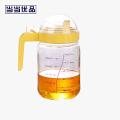 当当优品 玻璃油壶 塑料盖防漏带刻度玻璃油壶 550毫升