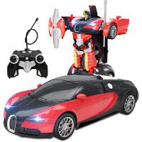 【当当自营】美致模型1:14布加迪电动遥控机器人一键变形USB充电动感音效舞步儿童汽车玩具2315