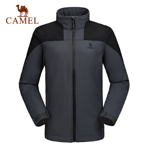camel骆驼户外软壳衣 男士防风保暖软壳衣