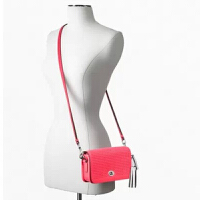 【COACH�f驰】 女士迷你小包 镂空时尚新款迷你包包 单肩斜跨多用 22387