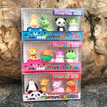 小动物橡皮 橡皮擦 创意可爱卡通橡皮擦 盒装 橡皮 儿童橡皮