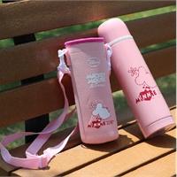 先行迪士尼保温杯500ML 男士杯子可爱儿童水壶真空不锈钢女士便携水杯 迪士尼保温杯 送杯套 .