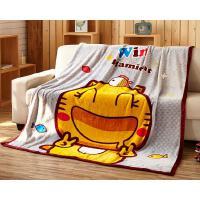 个性趣味时尚儿童午睡毯办公室薄毯子细腻精致柔软卡通法兰绒毛毯 空调毯
