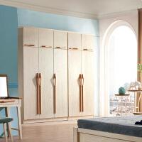 御品工匠 全实木 北欧现代 简约实用 卧室家具 组合衣柜  两门 三门衣柜 B01衣柜