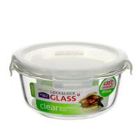 乐扣乐扣玻璃保鲜盒870ml 格拉斯微波炉保鲜碗饭盒LLG855