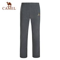 camel骆驼户外情侣款抓绒裤 男女简约保暖抓绒裤