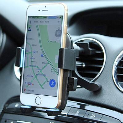 汽车手机支架出风口 空调车上车用车内通风口多功能 车载放电话夹