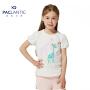 派克兰帝品牌童装 夏装女童可爱动物短袖T恤 女童夏季短T