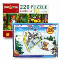 蓝鹰童之宝盒装平面拼图220片300片猫和老鼠风景儿童拼图益智玩具