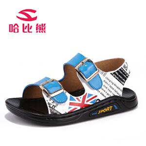 哈比熊童鞋2017年夏季新款儿童凉鞋男童凉鞋男孩沙滩鞋子宝宝凉鞋