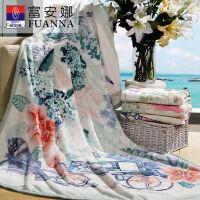 富安娜家纺 毛毯盖毯冬季保暖毯子法兰绒毯1.5米1050g 黄色-玛歌酒庄