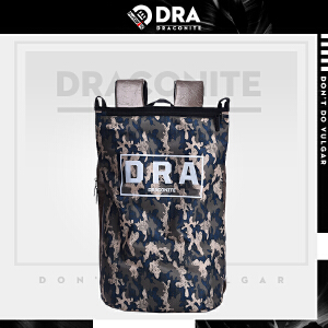 DRACONITE潮牌欧美风迷彩印花字母反光男女学生书包双肩背包11679
