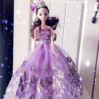 手工芭比娃娃婚纱结婚礼物齐地公主新娘可儿摆件儿童生日W016
