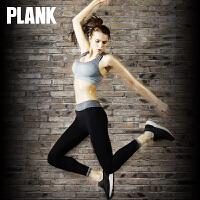 比瘦PLANK 百搭速干户外运动健身裤 无缝运动九分裤 瑜伽跑步紧身秋冬 PK013