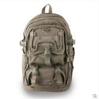 旅游双肩包旅行背包出游包袋男女生17寸电脑包大容量帆布包
