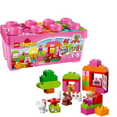 [当当自营]LEGO 乐高 duplo得宝系列 多合一粉红趣味桶 积木拼插儿童益智玩具 10571【当当自营】适合1.5-5岁,65pcs 大颗粒积木