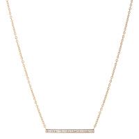 Arts & Crafts/A&C PURE STEEL系列时尚金色长条型女士项链 支持礼品卡支付