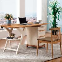 御品工匠 全实木书桌 北欧电脑桌 橡木写字台家用办公桌环保家具 B03书台