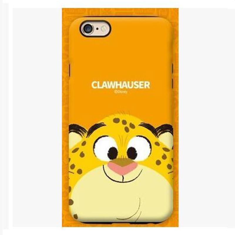 韩国代购迪士尼iphone6s疯狂动物城手机壳苹果双层防摔保护套plus hl