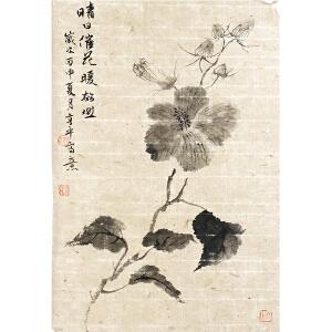 著名小写意花鸟画家 亨平《晴日催花》