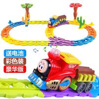 声光电动轨道车托马斯小火车模型儿童玩具男孩宝宝生日礼物
