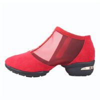 夏季广场舞鞋舞蹈鞋网布跳舞鞋健身减肥瘦身女单鞋显瘦羊皮软底广场舞鞋