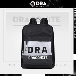 【支持礼品卡支付】DRACONITE潮牌尼龙反光双肩包男女夏季时尚英文字母背包韩11003A