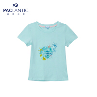 派克兰帝品牌童装  夏装女童户外休闲儿童短袖T恤