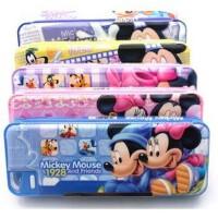 文具盒 迪士尼大双面笔盒 带卷笔刀塑料铅笔盒 米奇文具盒DM0908-2