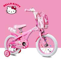 凯蒂猫2-3-5-6岁奥特王新款儿童自行车女12/14/16寸小孩童车