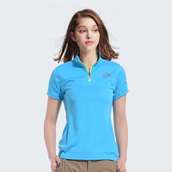 速干短袖t恤女 夏季户外运动透气吸汗速干t恤 立领设计更精神干练