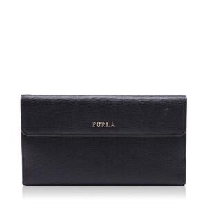 FURLA芙拉牛皮材质经典logo装饰女士长款钱夹钱包 银泰 支持礼品卡支付