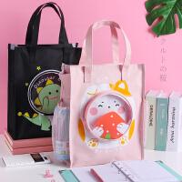 潮流女生笔袋花花姑娘文具袋化妆包文具盒韩国简约 女性创意密码锁可爱个性文具袋铅笔盒