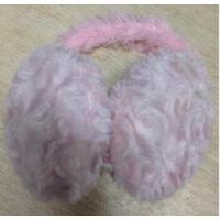 耀点100 毛绒冬季耳套 护耳朵套耳捂子冬天耳罩 保暖可爱耳包 粉色