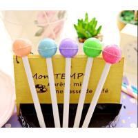 韩国文具水果西瓜中性笔 可爱棒棒糖中性笔创意针管水笔黑色   10支