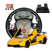 美致方向盘遥控车超大兰博基尼遥控汽车充电动漂移赛车儿童玩具车