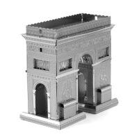 爱拼 全金属不锈钢DIY拼装模型3D纳米立体拼图 布鲁克林大桥 大本钟 凯旋门