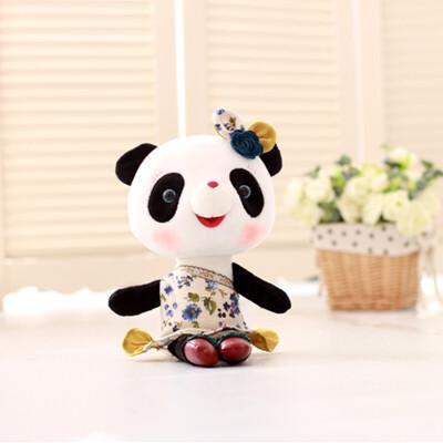绘画手工 手工diy 鑫诺手工diy 正版可爱卡通熊猫果果公仔毛绒玩具