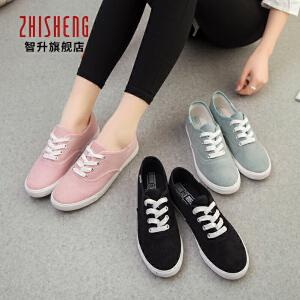 2017春季新款韩版女帆布鞋低帮休闲鞋学生球鞋平底布鞋女生板鞋子
