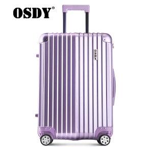 【可礼品卡支付】OSDY新款纯色防撞金属包角拉杆箱24寸新款商务旅行箱海关锁万向轮托运箱A929