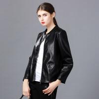 �莱2017春装新款女装皮衣女短款韩版机车pu女士小皮衣皮夹克外套