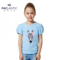 派克兰帝品牌童装  夏装女童时尚卡通动物图案短袖T恤