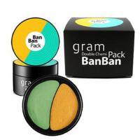 韩国banban Gram半半面膜 滋润补水清洁收缩毛孔控油