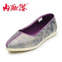 内联升女鞋布鞋手工千层底梦幻系列单鞋休闲老北京布鞋8612A